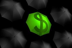 Umbrella Dollar Currency 5k Wallpaper