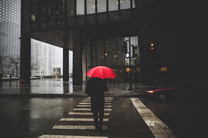 Umbrella Rain Person Wallpaper