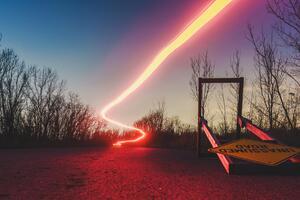 Unassumed Road Long Exposure Light 4k
