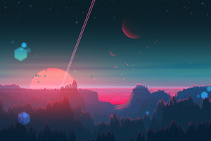 Under The Horizon Digital Art Wallpaper