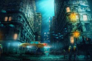 Underwater City 4k Wallpaper