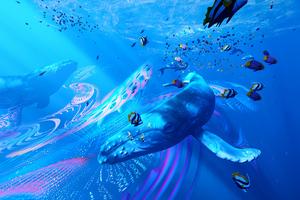 Underwater Creature Art 4k Wallpaper