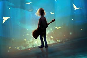 Underwater Melody 4k Wallpaper