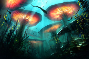 Underwater Nature Digital Art 4k