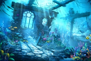 Underwater Scene Wallpaper