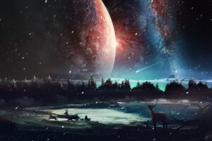Universe Scenery HD Wallpaper
