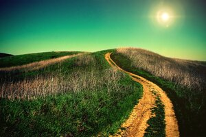 Uphill Road Wallpaper