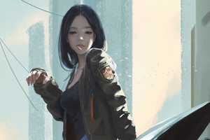 Urban Girl Smoking Cigarette
