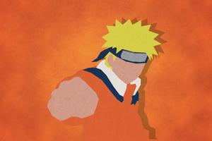 Uzumaki Naruto Shippuuden Minimalism 4k