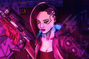 V Character Cyberpunk Girl 5k Wallpaper