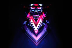 V Diagonal Abstract 5k