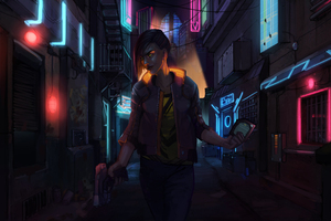 V On Streets Of Cyberpunk 2077
