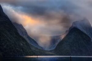 Valley Milford Sound In New Zealand