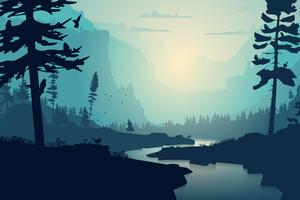 Valley River Minimal 8k Wallpaper