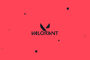 Valorant Logo Red 4k