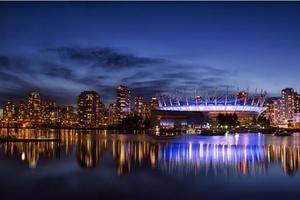 Vancouver City Night Wallpaper