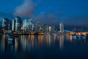 Vancouver Dusk Time Wallpaper