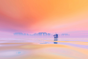 Vapor Boat Silence 5k Wallpaper