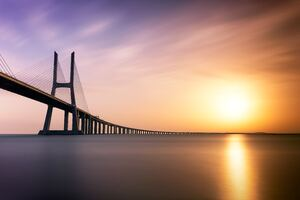 Vasco Da Gama Bridge 5k Wallpaper