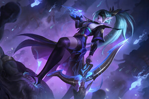 Vayne League Of Legends Fantasy Art 4k Wallpaper