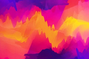 Vector Abstract Graphics Colorful Fire Wallpaper