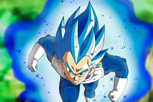Vegita SSJ Blue Full Pawer Wallpaper