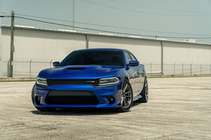 Velgen Blue Dodge Charger Dirty South 8k Wallpaper