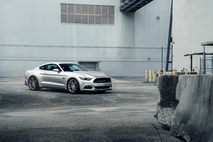 Velgen Silver Mustang Twin Turbo 8k Wallpaper
