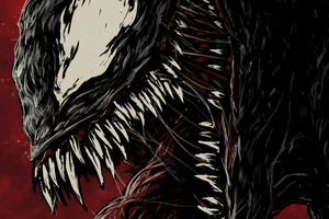 Venom 4k New Sketch Poster Wallpaper