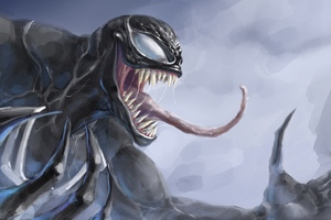 Venom 4k Paint Art