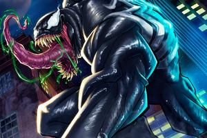 Venom 4k Sketch Art Wallpaper