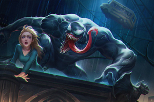 Venom About To Eat Girl