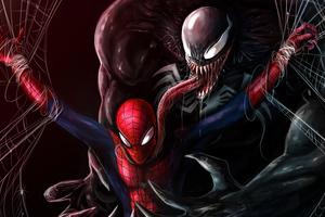 Venom About To Kill Spiderman