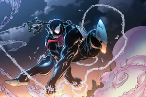 Venom And Black Spider Man Wallpaper