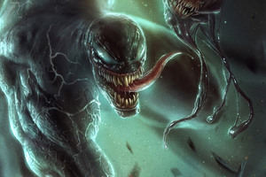 Venom Artwork 8k Wallpaper