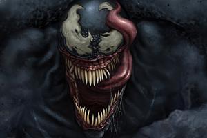 Venom Big Face 4k Wallpaper