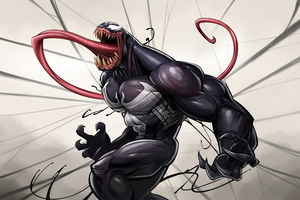 Venom Big Tongue Wallpaper