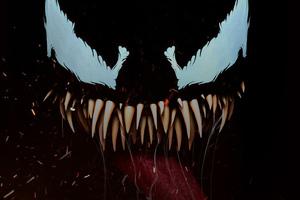 Venom Closeup Face Art