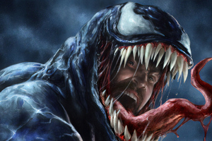 Venom Danger Artwork Wallpaper