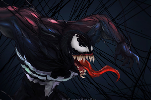 Venom Digital Art 5k