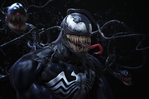Venom Digital Artwork HD
