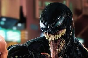 Venom Face Closeup Artwork