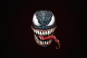 Venom Face Minimal Art 5k