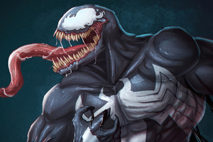 Venom Game Logo 4k Wallpaper