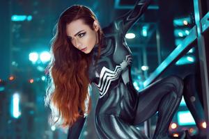 Venom Girl Cosplay 5k Wallpaper