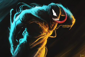 Venom Glowing Art