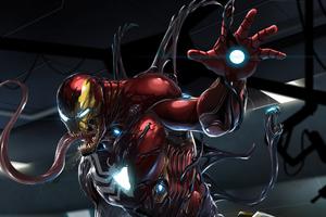 Venom Invasion Of Ironman Base 4k Wallpaper