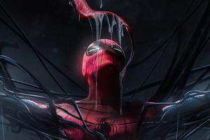 Venom Licking Spiderman