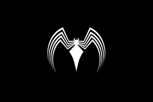 Venom Logo Dark 4k Wallpaper