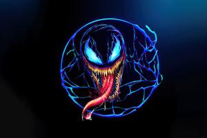 Venom Minimal Design 5k Wallpaper